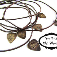 Guitar Picks personalized Men's Necklace Gift for him - personalized gift