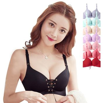 Seamless Sexy Bras For Women Fashion Push Up Bra Wire Free Lingerie 3/4 Cup Bralette Cotton Underwear Brassiere Dropshipping