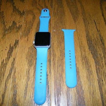 LMFGQ6 42MM Apple Watch 7000 Series (Series 1) Aluminum with Powder Blue Band