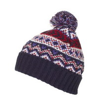 Fairisle Beanie - Navy Blue