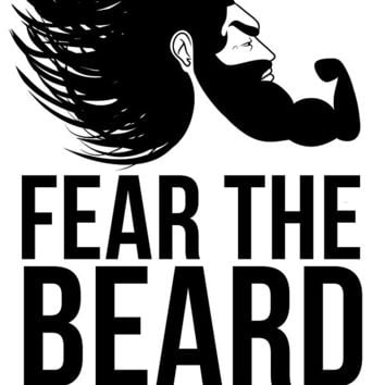 Fear The Beard Sticker