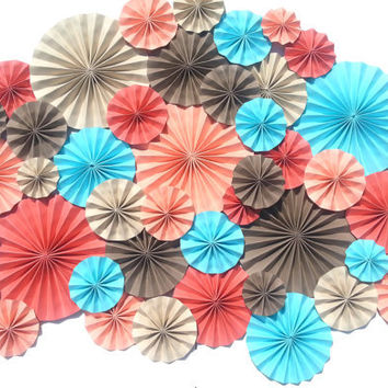 40 Pinwheels Beachy Wedding Event Decor