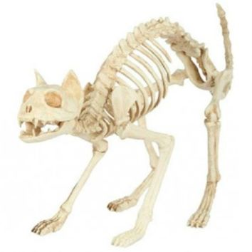 Seasons 18078 Halloween Prop Cat Skeleton Decor For Yard, 18