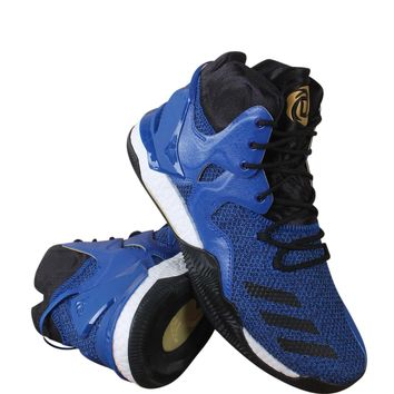 adidas Performance Men's D Rose 7 Basketball Shoe Blue/Black/Metallic Gold 6.5 D(M) US