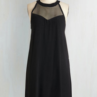 LBD Mid-length Sleeveless Shift The Choice is Sheer Dress