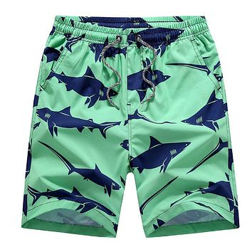 Summer Cotton Elastic Waistband Bermuda Shorts Comfortable Beach Clothes Men