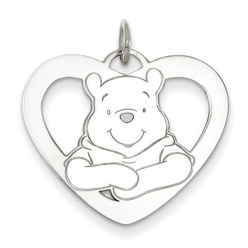 Sterling Silver Disney Winnie the Pooh Heart Charm WD175SS