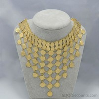 Coin Chokers Necklace Gold Color Arab Metal Coins Jewelry