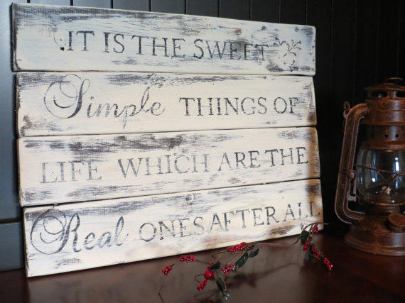 Distressed Wood Plank Sign - Rustic, from ...