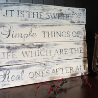 Distressed Wood Plank Sign - Rustic, Cottage, Prairie, Farmhouse, Western, Primitive, Typography, Quote,