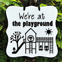 Playground, Recess, Sign, Classroom, Kids, Children, Child Care, Preschool, Daycare, Outside, Playtime