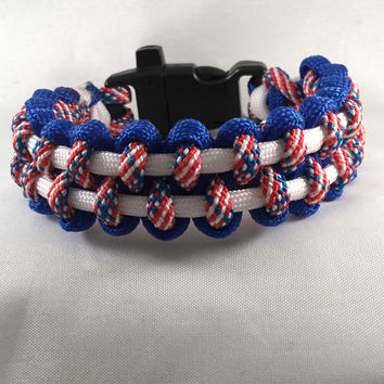 Commemoration to September 11, The Great USA - Paracord Parallel Weave Survival Bracelet
