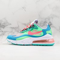 Nike Wmns Air Max 270 React Electro Green Lagoon Shoes - Best Online Sale