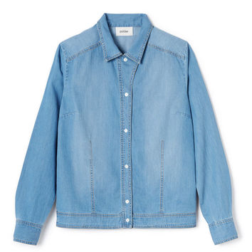 Blue Chambray Cotton Shirt by Polder