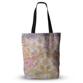 """Marianna Tankelevich """"Retro Summer"""" Yellow Pink Everything Tote Bag"""