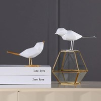 Golden Bird Home Decoration Silver Tail Resin Ornaments Crafts Creative Home Decoration Accessories Wedding Decoration Gifts