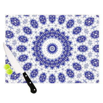 "Iris Lehnhardt ""M2"" Blue White Cutting Board"