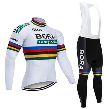 2018 Pro Team Black Cycling Jersey Set Ropa Ciclismo Hombre Winter Thermal Fleece Bicycle Clothing MTB Bike Jersey Bib Pants Kit