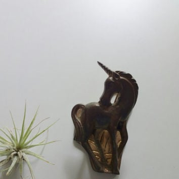 Vintage Unicorn Brass Paper Clip Desk Accessory