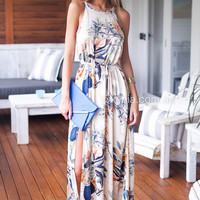Falling Leaves Maxi Dress