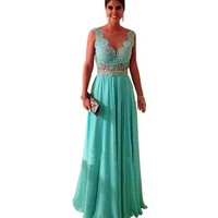 Long Evening Bridesmaid Dress Prom Gown Formal Party Chiffon Dress