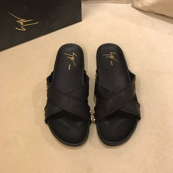 Giuseppe Zanotti  Man or Woman Fashion Casual Shoes Slipper