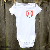 Baseball Pocket Onesuits®, Baseball Baby Shower, Sports