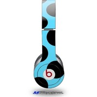 Kearas Polka Dots Black And Blue Decal Style Skin fits Beats Solo HD Headphones - (HEADPHONES NOT INCLUDED)