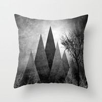 TREES VIII Throw Pillow by Pia Schneider [atelier COLOUR-VISION]