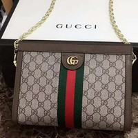 GUCCI Women Leather Wallet Purse Satchel Tote Soulder bag Three Piece I-AGG-CZDL
