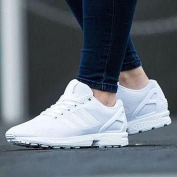 """Adidas"" Fashion Women ZX FLUX Running Sport Casual Shoes Sneakers White"