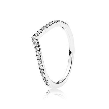 PANDORA Shimmering Wish Ring, Clear Cubic Zirconia