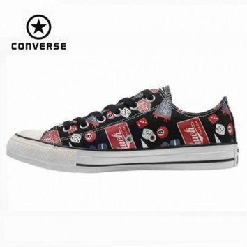 CREYUG7 Original Converse all star shoes men sneakerspattern hand-painted low canvas shoes men