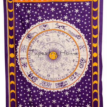 Purple Sun Moon tapestry wall tapestries Astrology Hippie Throw Decor 2972