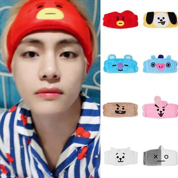 Kpop home trendyforBTS bt21Bulletproof Youth League V jungkook Same paragraph Washing face cartoon hair band headband