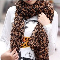 Amazon.com: SODIAL- Fashion Leopard Pattern Shawl Scarf Wrap for Women: Toys & Games