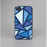 The Large Vector Shards of Blue Skin-Sert Case for the Apple iPhone 4-4s