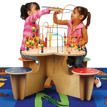 Kids Fleur Rollercoaster Group Play Multi Activity Learning Table