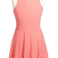 Girl's Elisa B 'Cut It Out' Sleeveless Skater Dress,