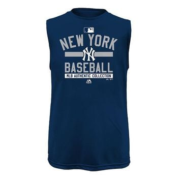 Majestic New York Yankees Muscle Tee - Boys 4-7, Size: