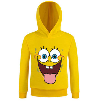 4-12 yrs kids spongebob t shirt boys sponge bob t-shirt long sleeve tee shirt garcon fille kinderkleding jongens boys clothes