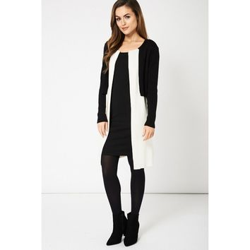 MY MALL METRO  Black and Cream Overlay Cardigan Ex-Branded  Check Homepage for Promo Codes! <