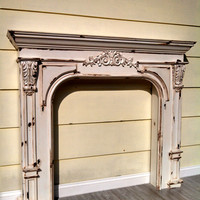 Vintage French Country Farmhouse Fireplace Mantel Reproduction