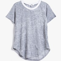 LNA / Ringer Tee in Grey/White