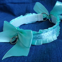 Sweet mint collar BDSM Petplay choker kawaii polka