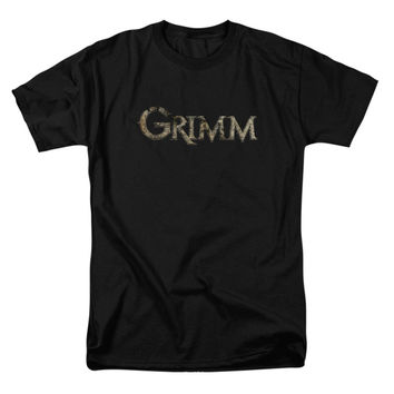 Grimm Men's  Logo T-shirt Black Rockabilia
