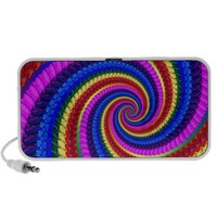 Rainbow Fractal Art Swirl Pattern Mini Speaker