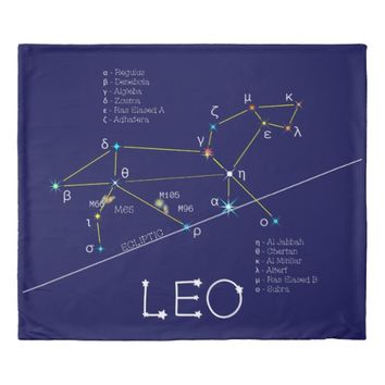 Constellation LEO unique, elegant Duvet Cover