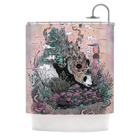 "Mat Miller ""Land of The Sleeping Giant"" Panda Shower Curtain"