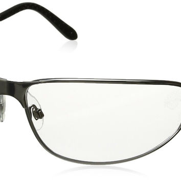 Harley-Davidson HD501 Safety Glasses with Silver Matte Frame and Clear Tint H...